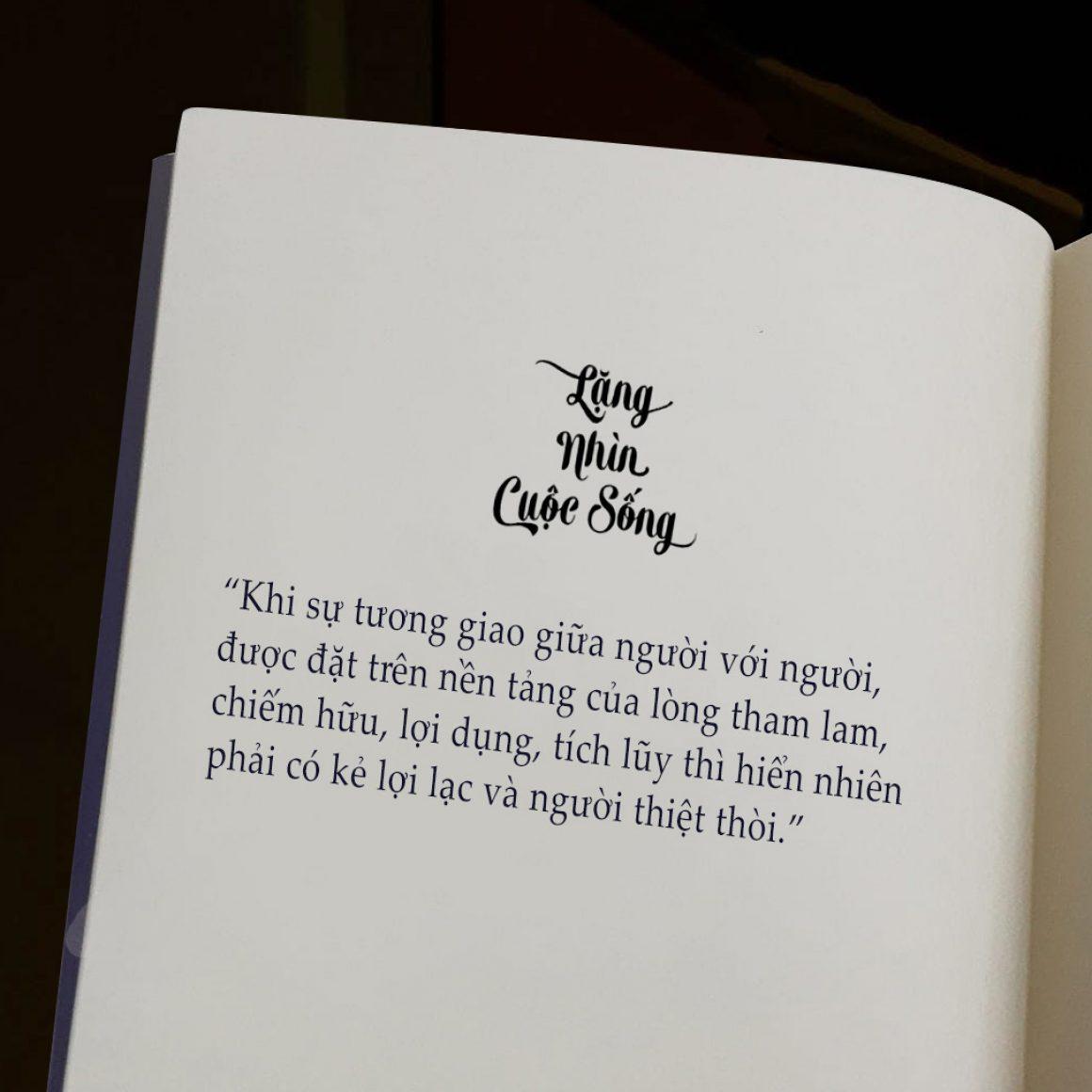 sách lặng nhìn cuộc sống